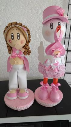 muñecas fofuchas embarazadas y cigueñas baby shower