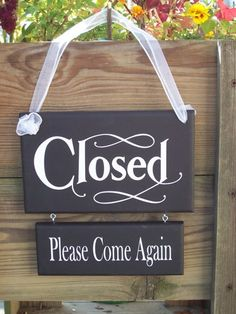 Whimsical Shabby Retail Shop Store Open Closed Wood Vinyl Sign Welcome Please… Closed Signs, Open Signs, Shop Interior Design, Store Design, Display Design, Interior Paint, Display Ideas, Vinyl Signs, Wood Signs