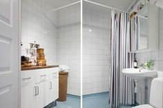 Bathroom3 Precious White Apartment With Shabby Chic Details in Gothenburg