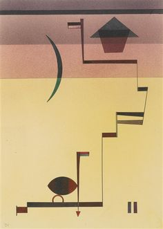 Artwork by Wassily Kandinsky, ANGULAR, Made of Watercolor, spritztechnik and pen and ink on paper laid down on card
