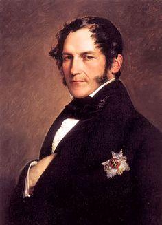 Léopold Ier de Belgique (1790-1865) . Roi des Belges (1831-1865). Franz Winterhalter,