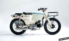 Deus Sea Sider : le Honda Cub pour surfeurs, by Deus Motorcycles Bali