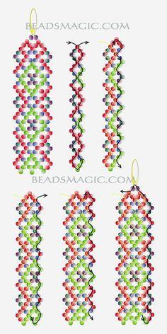 Free pattern for beautiful beaded long earrings Helena. | Beads Magic#more-7081