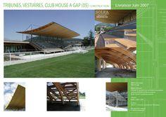 Tribunes Vestiaire Club House - solea-architectes