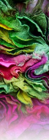 Amazing felt art! I love these colours. this is art in and of itself!
