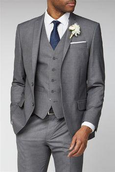 Casual Wedding Suit, Grey Suit Wedding, Wedding Men, Best Wedding Suits For Groom, Wedding Ideas, Dream Wedding, Wedding Tuxedos, Wedding Attire, Wedding Colors