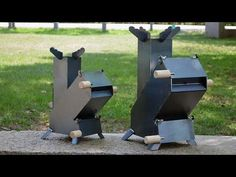 Rocket Stove is great efficient wood cooking stove that can be used for cooking for camping or any recreational outdoor activities. Rocket Heater, Rocket Stoves, Stove Heater, Stove Oven, Metal Projects, Welding Projects, Cooking Stove, Cooking Kale, Cooking Salmon