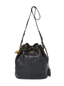 7a9f28be34d7 Alexander McQueen Skull Padlock Leather Bucket Bag from Gilt - Styhunt