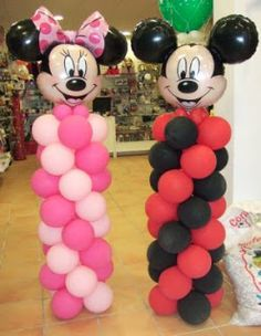 Minnie Mouse Birthday Decorations, Minnie Mouse Balloons, Minnie Mouse Theme Party, Disney Balloons, Red Minnie Mouse, Minnie Mouse Baby Shower, Mickey Mouse Clubhouse Birthday, Mickey Mouse Parties, Mickey Mouse Birthday