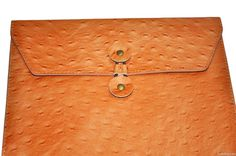 genuine ostrich leather envelope case for macbook air, ultrabook
