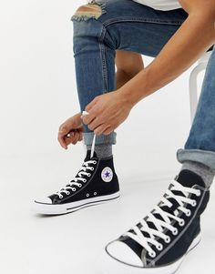 db742930e2a4 Converse chuck taylor hi sneakers in black · All Star ...