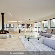Loft im Bauhaus-Stil – großzügiger, offener Wohnbereich! Mehr auf roomido.com #roomido #interiodesign