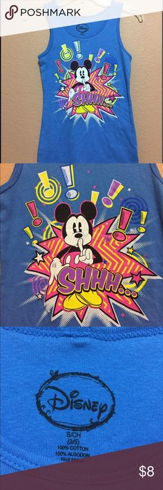 "NWOT Mickey Mouse Tank New. Never worn. Size small (3/5). Measurements:  pit to pit 13"" length 23.5"". Disney Tops Tank Tops"