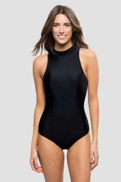 dac5dee628 black high neck one piece swimsuit target One Piece Swimsuit