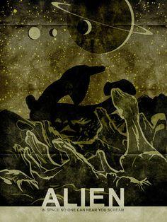 18 x 24 Inch Alien Movie Print by MattPepplerArt on Etsy, $30.00