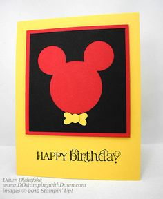 stampin up, dostamping, dawn olchefske, demonstrator, punch art, mickey mouse