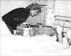 March 6, 1989 Princess Diana Of Wales Visits Victims Of The Purley Train Crash At The Mayday Hospital In Croydon