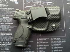 M&P Shield (40/9mm) Smith and Wesson Custom Holster - CARBON FIBER Black / RHand / IWB / Concealed Carry Find our speedloader now!  www.raeind.com  or   http://www.amazon.com/shops/raeind