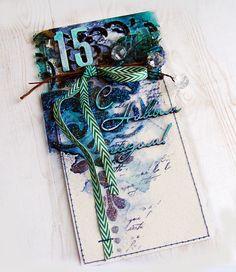 Мастерская зеленого тролля: Новогодняя открытка без скрап-бумаги №2