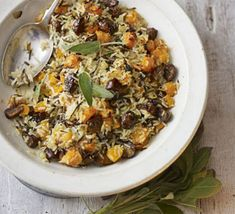 Add a colourful and healthy dish to your Christmas lunch table with this vegetarian stuffing, from BBC Good Food. Vegetarian Stuffing, Vegetarian Recipes, Healthy Recipes, Rice Stuffing, Rice Recipes, Healthy Food, Christmas Dishes, Christmas Lunch, Christmas Turkey