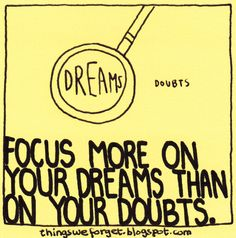 1009: Focus more on your dreams than on your doubts.
