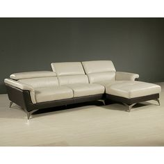 Chaise Lounge Sofa Pastel EO BS Elloise Sofa Set with Brushed Steel Base