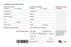 Shipping Forms Rebrand U.S. Post on Behance