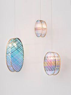 Woven Glass, les suspensions en verre tressé