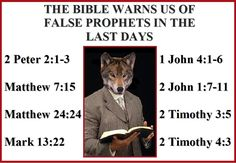 Is your pastor a false prophet? If it ain't in the Bible, it ain't the truth. Faith Quotes, Bible Quotes, 2 Peter, Bible Truth, 1 John, Bible Scriptures, Gospel Bible, Bible Prayers, Way Of Life
