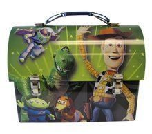 Toy Story Woody Buzz Jessie Dome Carry-All Workmans Tin - Green
