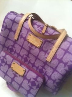 """AUTHENTIC Kate Spade """"Kaleigh"""" Pebbled Ace of Spades Satchel - $205"""