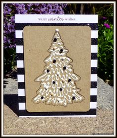 An iced Christmas cookie tree card. By djkardkreations