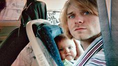 Kurt Cobain with Frances Cobain.