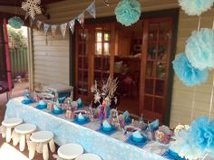 Frozen blue party theme package for boys and girls in Perth, WA