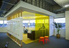 Conference area within office space; space within a space; Facebook Seattle Office Design By Gensler