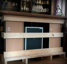 Küche Ideen Theke Bauen Und Mit Holz Verkleiden