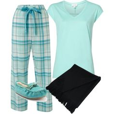 A fashion look from November 2012 featuring blue shirt, cotton pyjamas and forever 21 shoes. Browse and shop related looks. Cute Pajama Sets, Pajama Day, Cute Pjs, Cute Pajamas, Pajamas Women, Plaid Pajamas, Cute Lounge Outfits, Cute Lazy Outfits, Loungewear Outfits