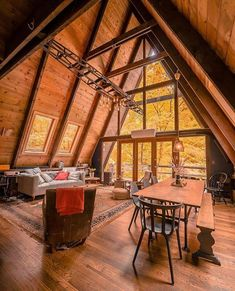 Rustic DIY cabin decorations that look spacious are the popular choice for many people. If you live in a small house, you can make your home look spacious by using rustic cabin decors. Diy Cabin, Rustic Cabin Decor, Farmhouse Decor, Cabin Tent, Cabin Ideas, House Ideas, A Frame House Plans, A Frame Cabin, Cottage Design