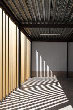 *modern architecture, wooden partitions, dividers, outdoor* Vergilio Ferreira High School