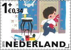 Op de Kinderpostzegels van 2015 staan illustraties uit de Gouden Boekjes, de populaire serie prent- en voorleesboeken voor kinderen die al ruim zestig jaar in Nederland verschijnt. http://collectclub.postnl.nl/kinderpostzegels-2015.html