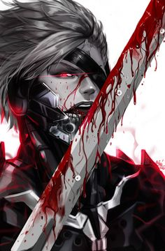 Oh my God!! Raiden I love him so much. Raiden from Metal Gear Rising: Revengeance Jack (Raiden) (c) Konami step by step