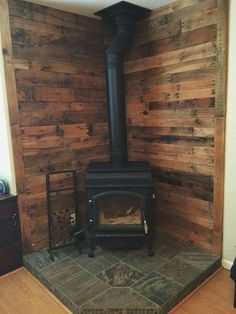 corner Fireplace Tile Ideas (outside wood stove bedrooms) Wood, Wood Stove Hearth, Wood Tile, Corner Fireplace, Barn Wood, Trendy Living Rooms, Living Room Wood, Pellet Stove, Fireplace Tile