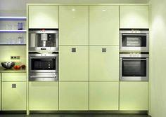 modern kitchens, green pastels for interior decorating