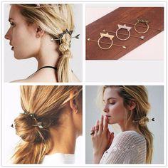 Bohemia Hairgrip Vintage Antique Crown Hair Clasp Hair Accessories Hair Sticks Women Hair Accessories