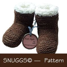 Knit boots - so cute
