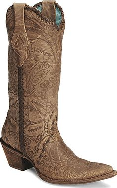 Corral Embossed Lace Cowgirl Boots