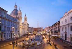 The Piazza Navona is the place to visit in Rome for a fun evening of eating good food and shopping for sounenirs.  Remember the fountain scene in Angels and Demons?  It happened in the Piazza Navona.