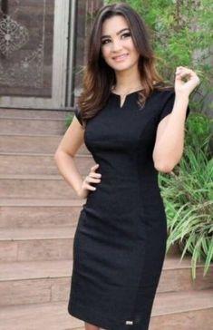 55 Ideas for moda evangelica vestidos executiva Office Dresses, Dresses For Work, Black Office Dress, Dress Work, Cute Dresses, Beautiful Dresses, Party Dresses, Dress Outfits, Fashion Dresses