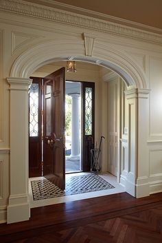 You need to create a pleasant feel to your home. The foyer, no matter what size it is, says what you want people to think and feel about your home. Paying more attention to your foyer now will help you… Continue Reading → Foyer Flooring, Foyer Design, Staircase Design, Rustic Design, Foyer Decorating, Decorating Ideas, Decor Ideas, Entry Foyer, Foyer Bench