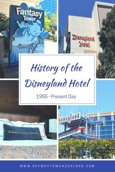 The history of the Disneyland Hotel is as long and interesting as Disneyland itself, though probably not one that the casual Disney fan is aware of. As Walt Disney was building his dream in those r… Disneyland Hotel, Tokyo Disneyland Resort, Disney Hotels, Disneyland Tips, Downtown Disney, Disney Vacations, Disney Now, Disney Tips, Everything